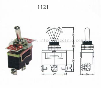 TAIWAN MADE-TOGGLE SWITCH(1121) ON/ON 3T