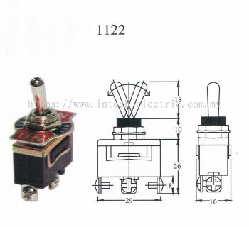 TAIWAN MADE-TOGGLE SWITCH(1122) ON/OFF/ON 3T