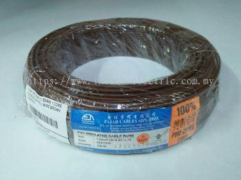 Fajar 30/0.25mm��1.5mm��x 1 Core Flexible Control Wire��Brown��100meter