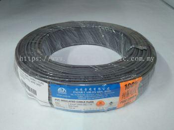 Fajar 30/0.25mm��1.5mm��x 1 Core Flexible Control Wire��Grey��100meter