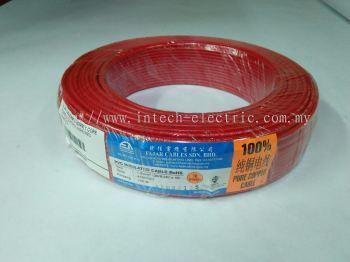 Fajar 30/0.25mm��1.5mm��x 1 Core Flexible Control Wire��Red��100meter