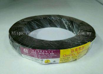 Fajar 32/0.20mm��1.0mm��x 1 Core Flexible Control Wire��Black��100meter