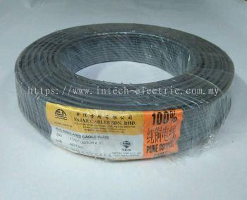 Fajar 50/0.25mm��2.5mm��x 1 Core Flexible Control Wire��Grey��100meter