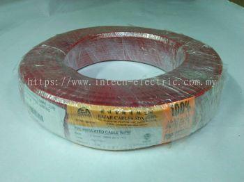 Fajar 50/0.25mm��2.5mm��x 1 Core Flexible Control Wire��Red��100meter