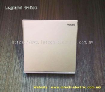 LEGRAND GALION 282401-C2 1GANG 2WAY SWITCH - CHAMPAGNE(SILVER BAR)