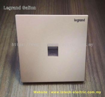 LEGRAND GALION 282445-C2 RJ11 TELEPHONE SOCKET - CHAMPAGNE��SILVER BAR��