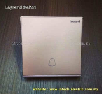 LEGRAND GALION 282411-C2 1GANG BELL SWITCH - CHAMPAGNE��SILVER BAR��