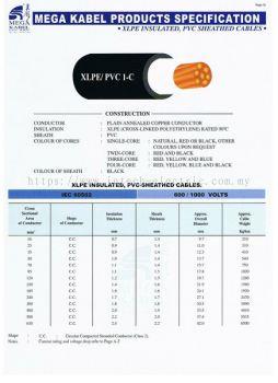 mega kabel XLPE / PVC