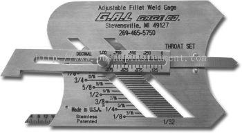 G.A.L gage - Adjustable Fillet Weld Gauge Cat # 3
