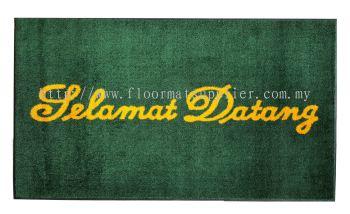 Entrance Mat - Laundry Mat (Dust Control Mat) - Green (Selamat Datang)