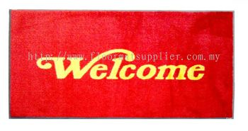 Entrance Mat - Laundry Mat (Dust Control Mat) - Red (Welcome)