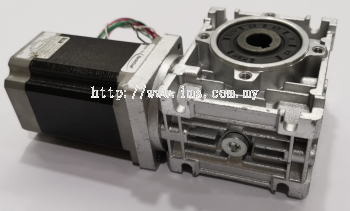 NMRV030-010 WORM GEAR + NEMA 23 STEPPER MOTOR