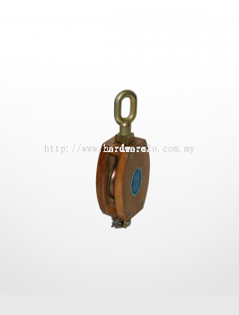 RE02) Wooden Block with Shivel Oval Eye (Single Sheave)