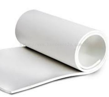 WHITE NEOPRENE RUBBER SHEET SIZE : 1.5MM THK x 1200MM x 10000MM