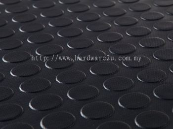 NEOPRENE RUBBER WITH STUD SIZE : 3MM THK x 1220MM x 10000MM