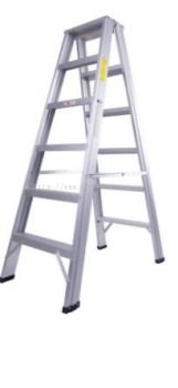 Aluminium Double Sided A Shape Step Ladder 12 Step