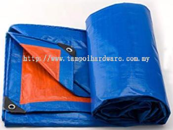 PE Tarpaulin Orange & Blue Sheet
