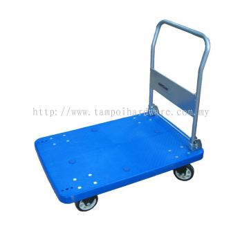 Flodable Plastic Platfold Hand Trolley with 4 Wheel - 300kg