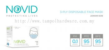NOVID 3-Ply Disposable Face Mask (Junior Size)
