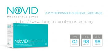 NOVID 3-Ply Disposable Surgical Face Mask