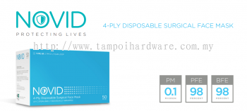 NOVID 4-Ply Disposable Surgical Face Mask