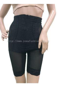 Women's Slim Lift Tummy Control High Waist Body Shaper Slimmer Girdle Pants Shorts (Black)