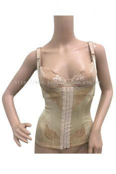 Women Full Body Slimming Shaper Girdle Tummy Trimmer (Beige)