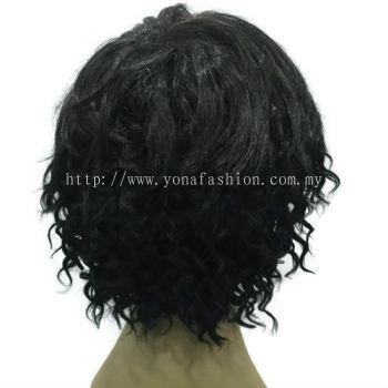 4pcs Curly Human Hair Extension Natural Black