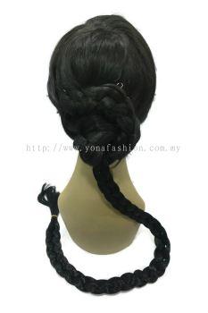 Extra Long Braid Hair Tie 84cm (Black)
