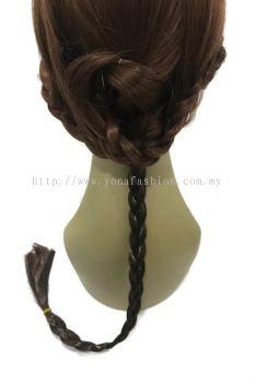 Long Braid Hair Tie 60cm (Darki Brown)