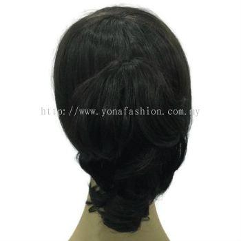 Short Curly Ponytail Hair Clip 20cm (Black)