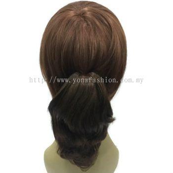 Short Curly Ponytail Hair Clip 20cm (Dark Brown)