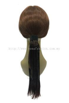Long Braid Hair Extensions 48cm (Brown)