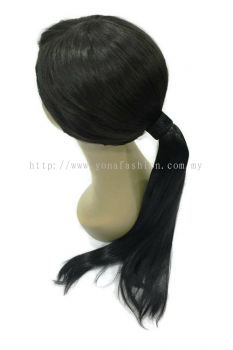 Long Straight Hair Extensions 52cm (Black)