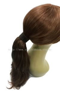 Long Curly Wave Ponytail Hair Extensions 40cm (Light Brown)