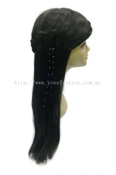 Straight Hair Extension With Stone (Black)