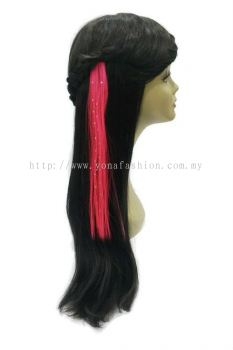 Straight Hair Extension With Stone (Pink)