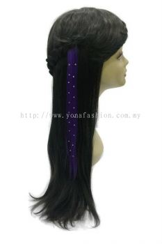 Straight Hair Extension With Stone (Purple)