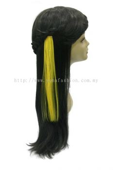 Straight Hair Extension With Stone (Yellow)