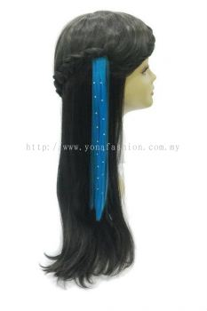 Straight Hair Extension With Stone (Blue)