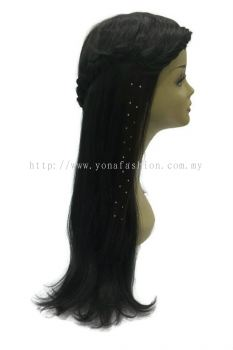 Straight Hair Extension With Stone (Dark Brown)