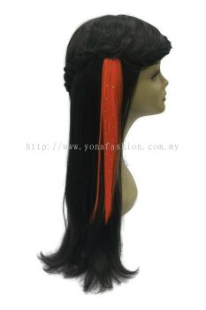 Straight Hair Extension With Stone (Orange)