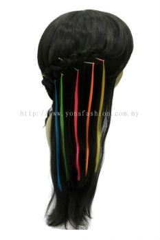 6pcs Colourful Hair Extension Hair Clip (Mix colour)