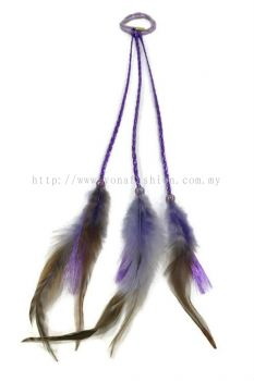 Feather Braid Hair Tie Lavender