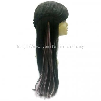 Straight Hair Extension (Pink)
