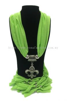Designer Choker Shawl (Lime Green)