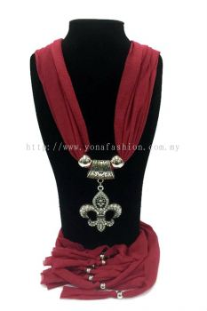 Designer Choker Shawl (Red)