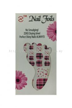 Colourful Foot Nail Foils (Mix Colour)