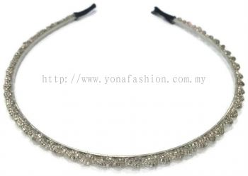 Small Beads Hair Band (Silver)