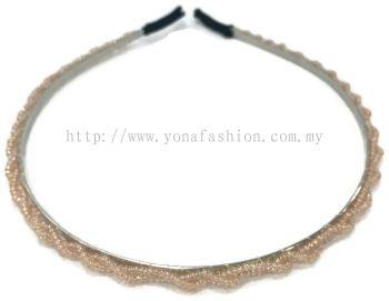 Small Beads Hair Band (Orange)